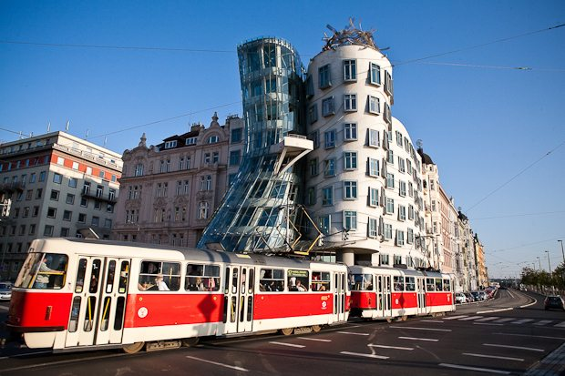 The Dancing House. Prague, Czech Republic.