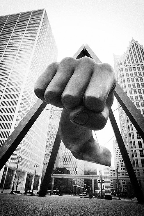 fist of detroit Which is Better? Black and White vs Color for Street Photography