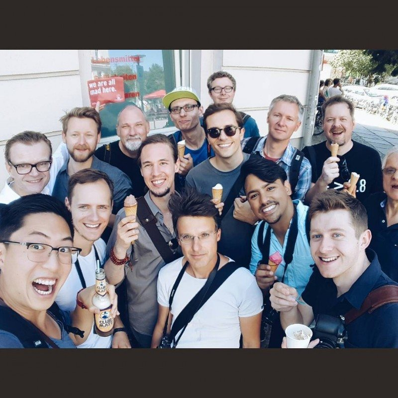Group selfie: Berlin Conquer Your Fear of Shooting Street Photography (hipster coffee, ice cream, and yerba matte galore!)