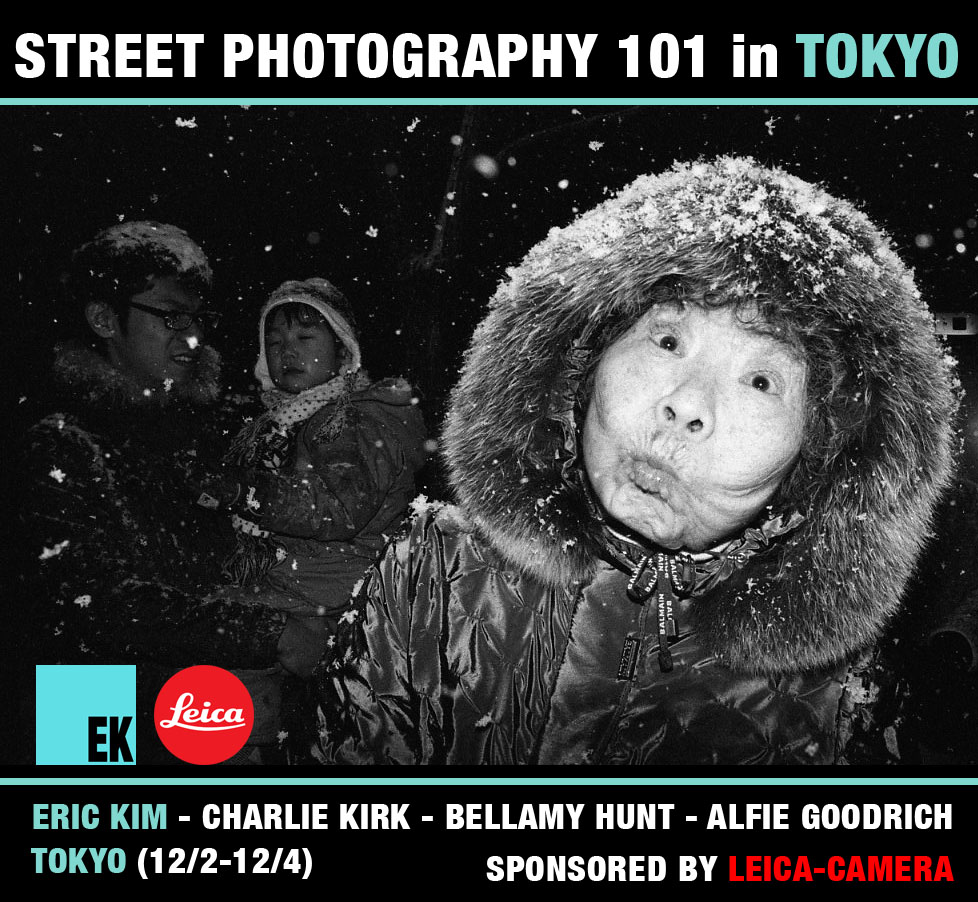 TOKYO BANNER LEICA UPDATE Experience the Workshop of a Lifetime: Street Photography 101 Workshop in Tokyo with Eric Kim, Charlie Kirk, Bellamy Hunt, and Alfie Goodrich