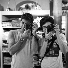 Kaushal and Myself Shooting the Streets! (photo actually taken inside a department store)