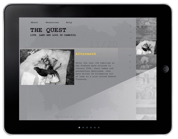 quest for land ipad Interview with John Vink, Magnum Photographer on his new Quest For Land book available on the iPad