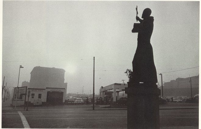 30. St Francis gas station and City Hall LA 1955 660x426 Timeless Lessons Street Photographers Can Learn from Robert Franks The Americans