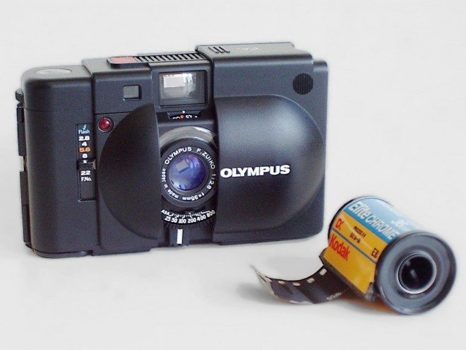Olympus XA camera and film 660x495 Interview with Todd Gross on Shooting Film (vs Digital), Working in Color, and the Secret Identity of Quarlo in New York