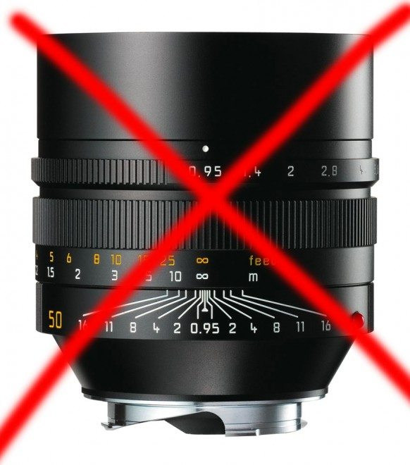 The Leica .95 Noctilux--quite possibly the most over-rated lens that exists.