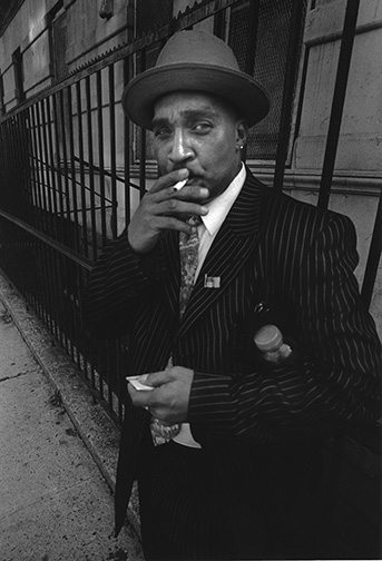 010 Man smoking Interview with Harvey Stein on His New Book: Harlem Street Portraits