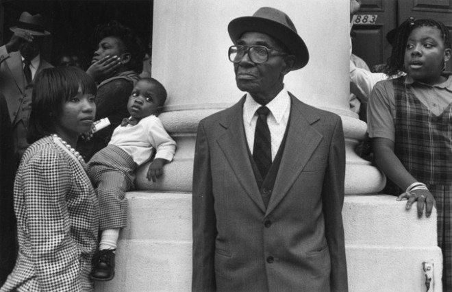 011 Man front of church pillar 660x426 Interview with Harvey Stein on His New Book: Harlem Street Portraits