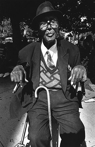 05 Man in wheelchair with cane Interview with Harvey Stein on His New Book: Harlem Street Portraits