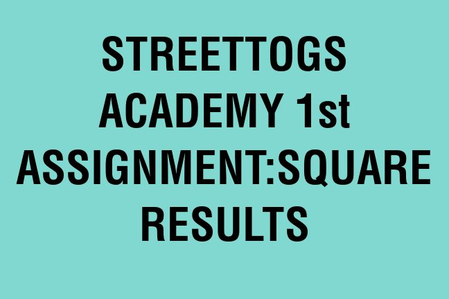 Streettogs-Academy-Group-1st Assignment banner