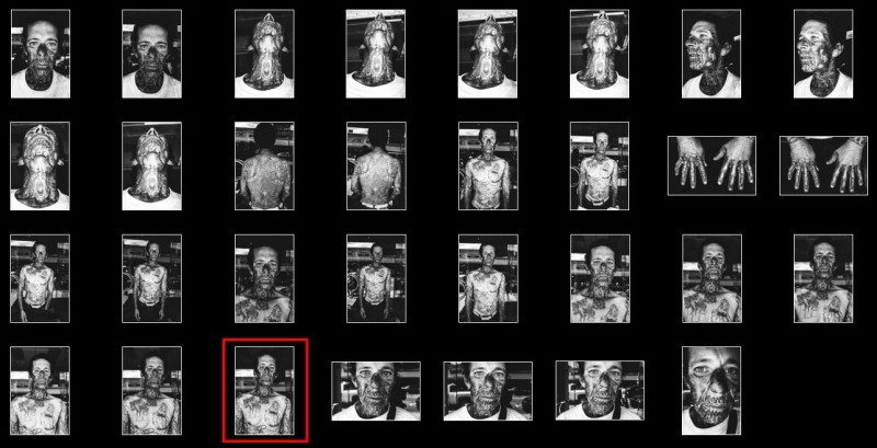 face tats contact pick 800x409 Street Photography Contact Sheets #1: Face Tattoo, Downtown LA 2014