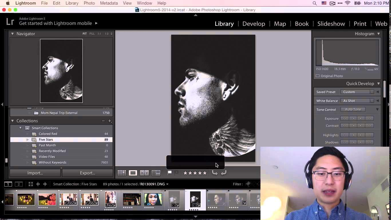 Video: Introduction to Editing, Processing, and Workflow in Lightroom 5 for Street Photography