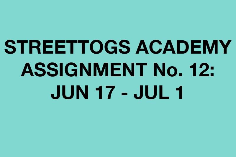 Streettogs Academy No. 12