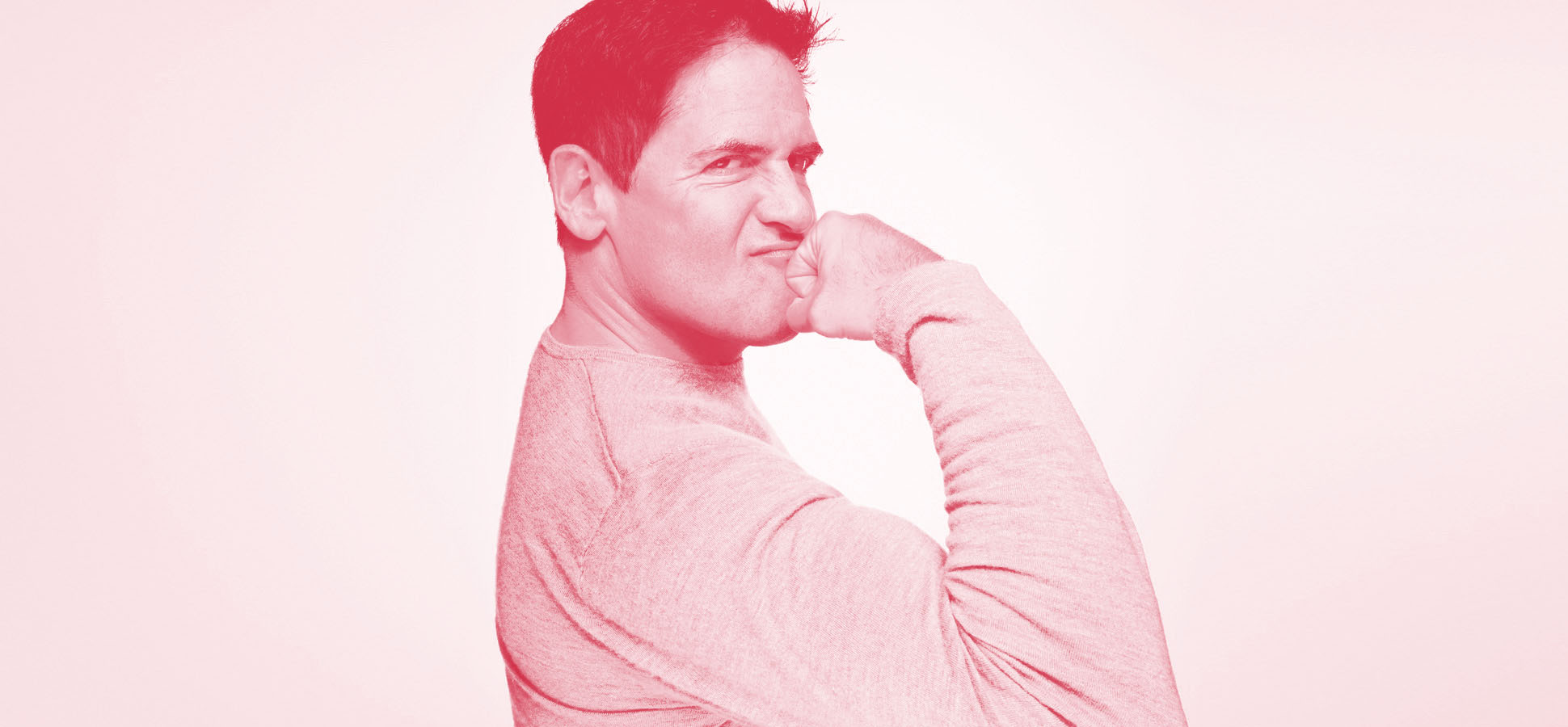 mark cuban red black and white