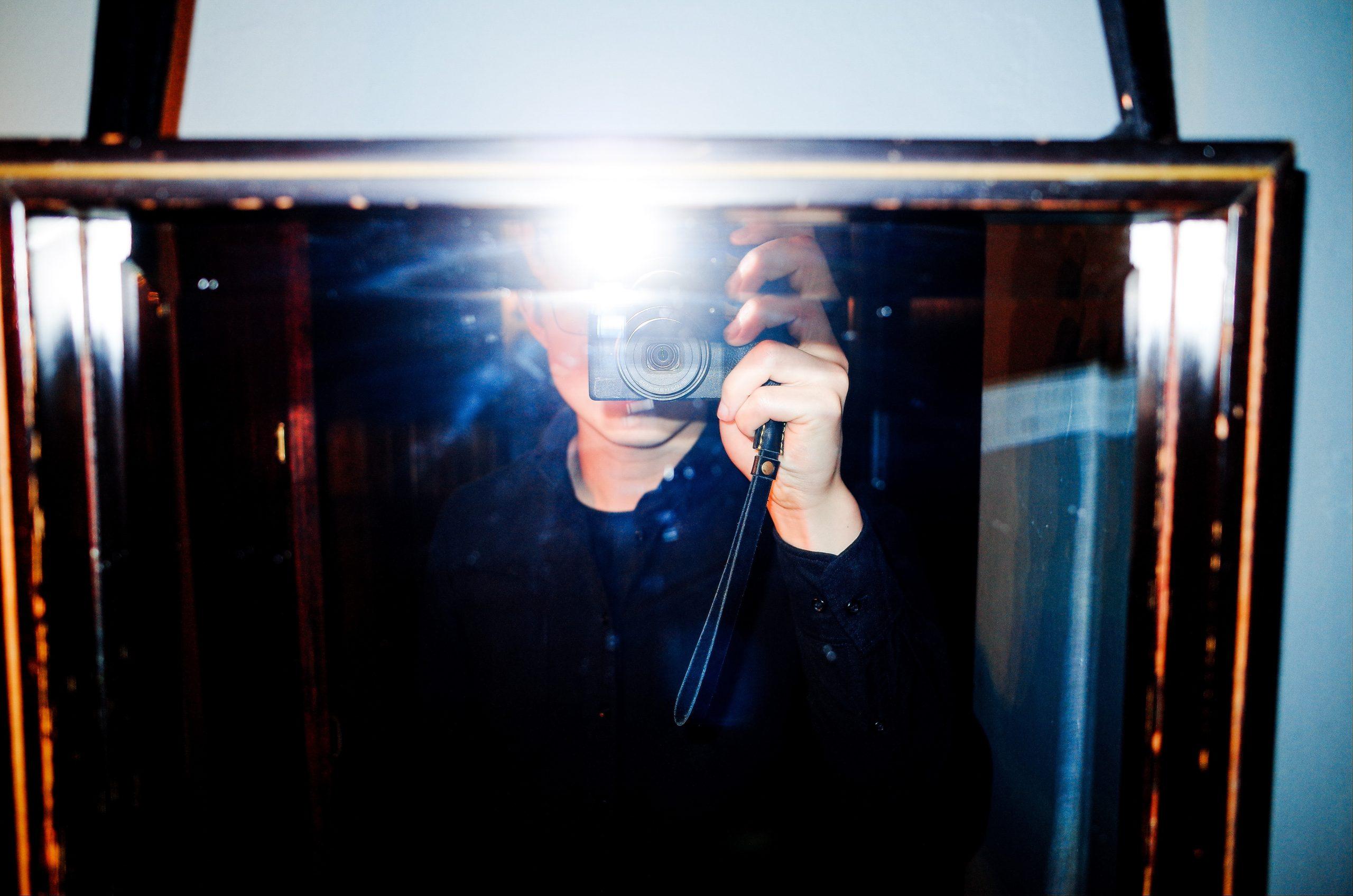 Selfie ricoh flash