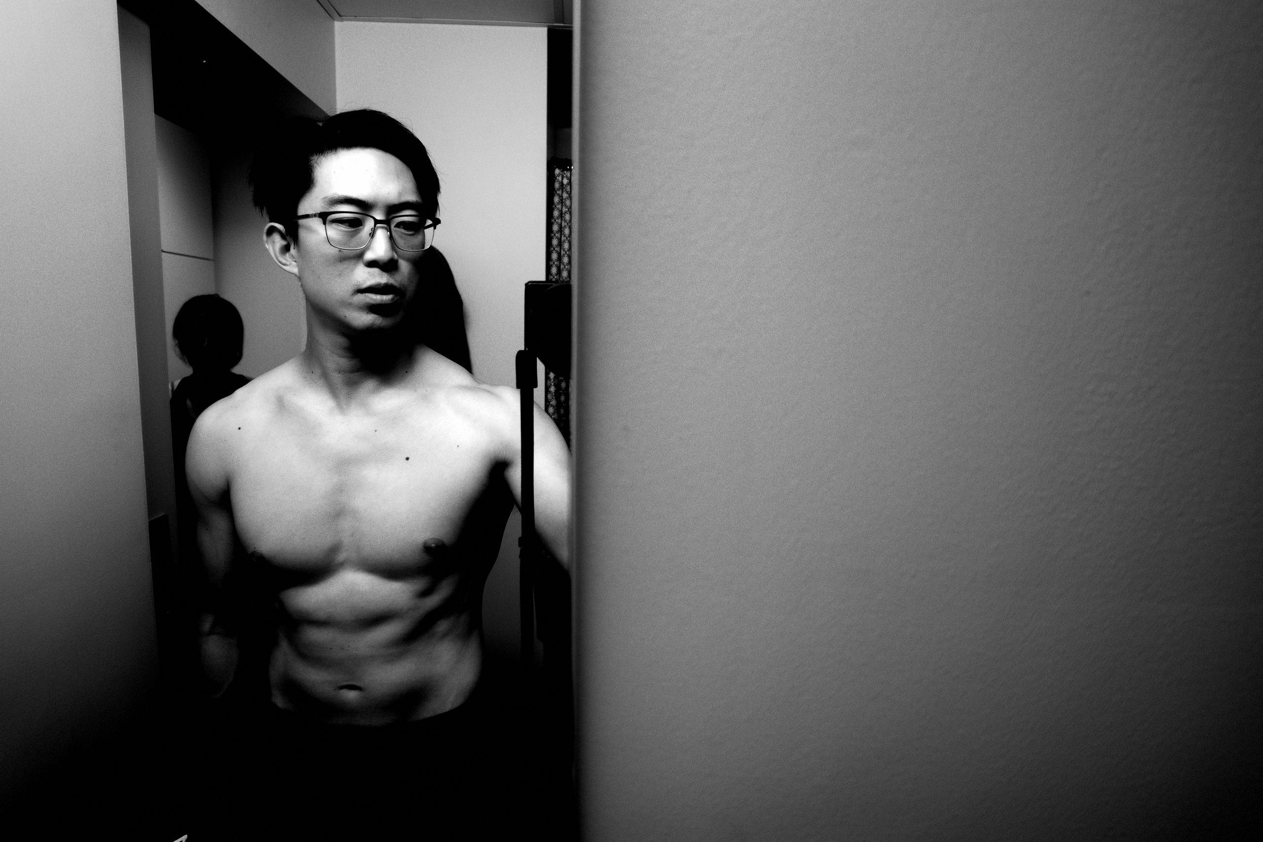 selfie Eric muscle