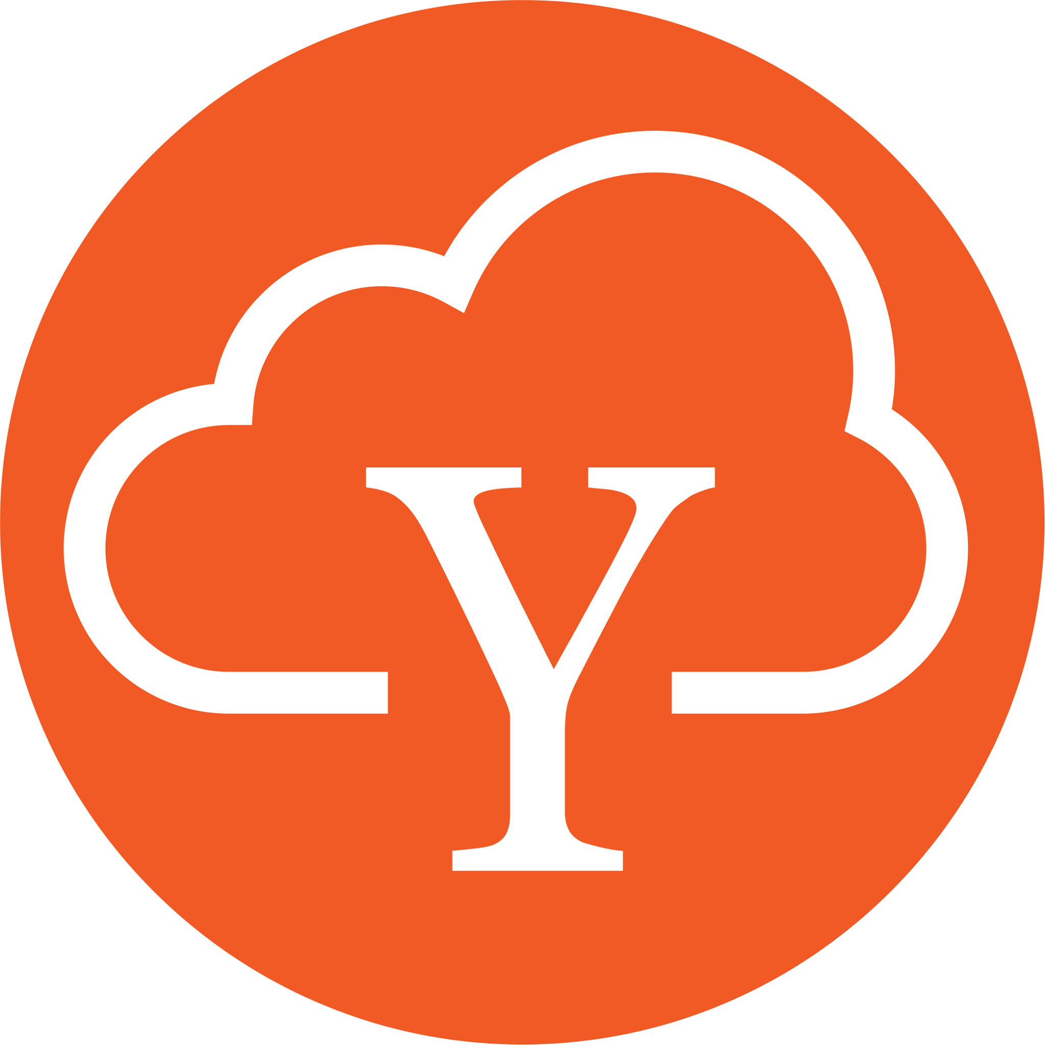 Zen of ERIC KIM why app. Orange logo with y and cloud thinking bubble