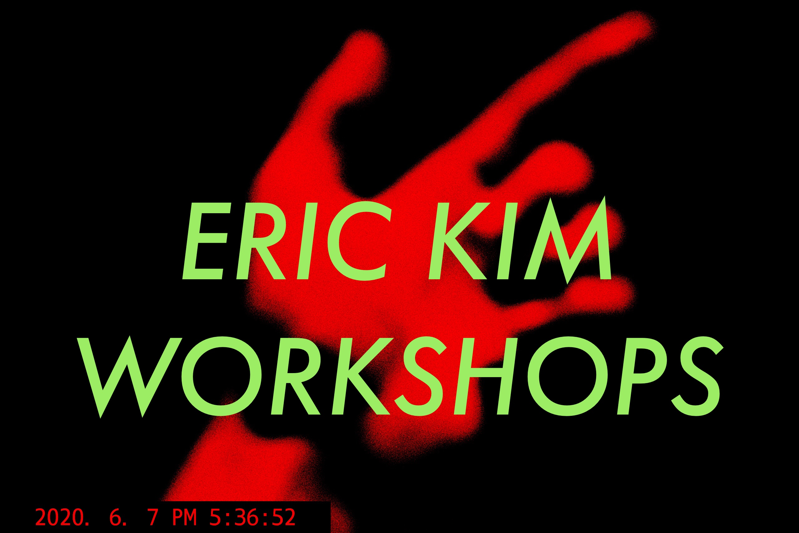 ERIC KIM workshops red hand